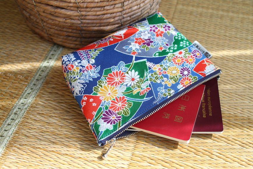 Pochette multi-usage – Kimono Fleuri