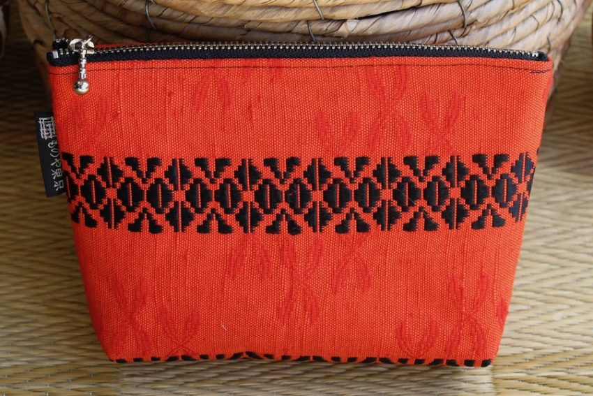 Multi-use pouch – Bright Red Kimono