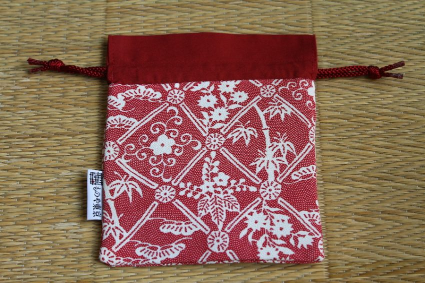 Kinchaku bag – Red