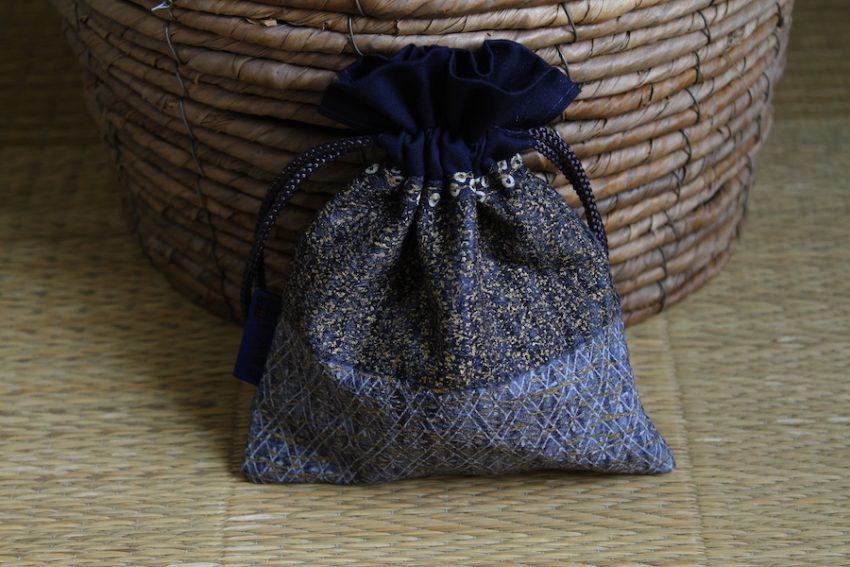 Bourse kinchaku – Bleu étoilé – Ichiban