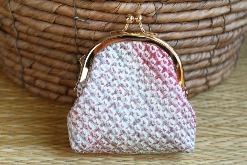 Change purse – Pastel Shibori Fabric