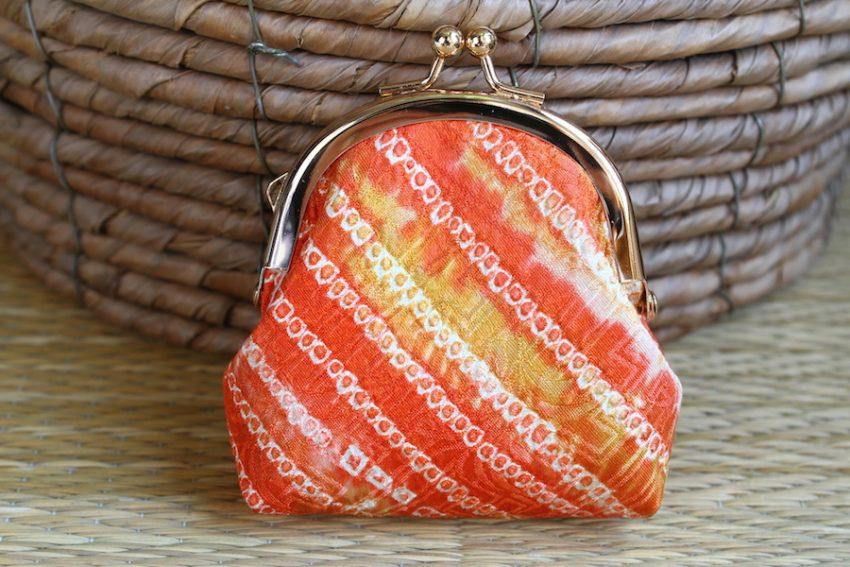 Porte-monnaie – Tissu Shibori Orange