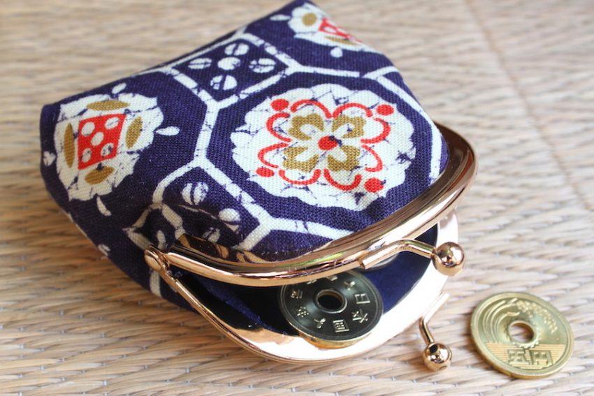 Porte-monnaie – Tissu Kimono Bleu