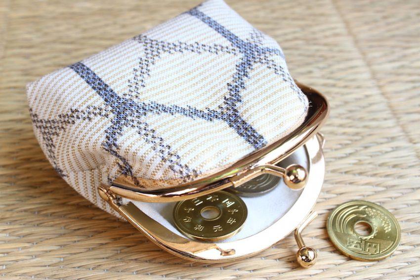 Porte-monnaie – Tissu Kimono Blanc