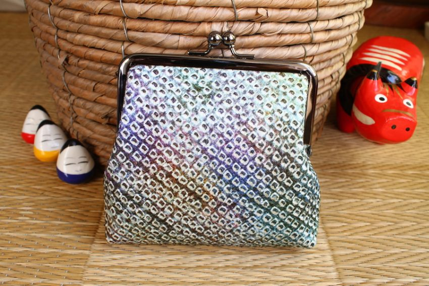Squared change purse – Gradient Shibori