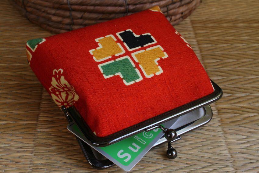 Porte-monnaie carré – Kimono Rouge