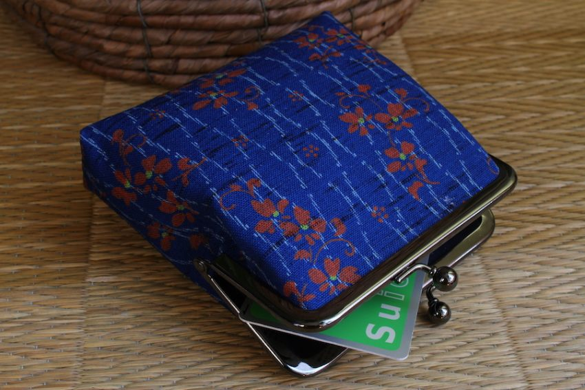 Porte-monnaie carré – Kimono bleu