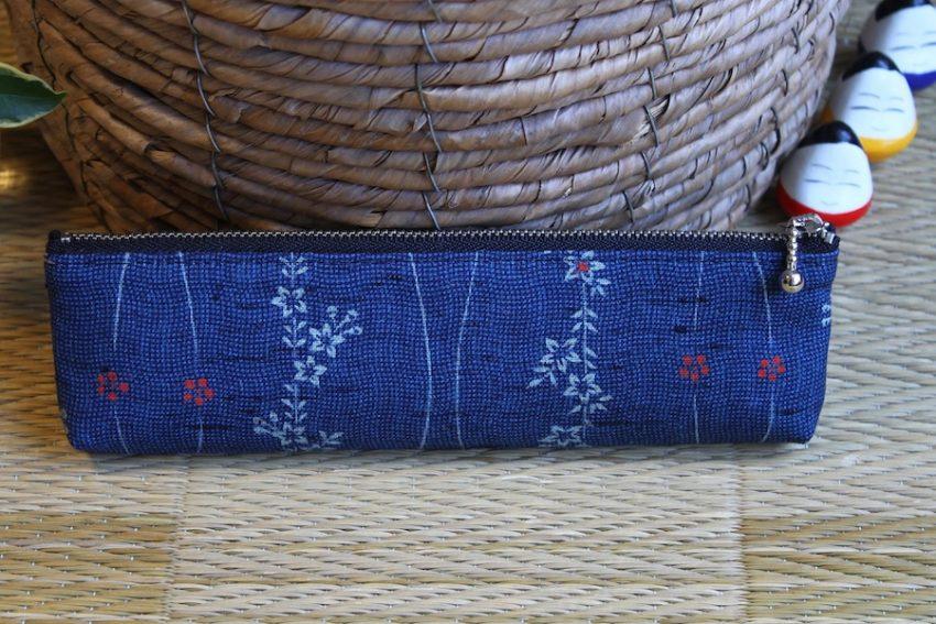Trousse à crayons – Kimono Bleu