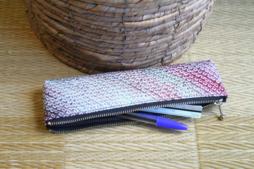 Pencil Case – Gradient Pink Shibori