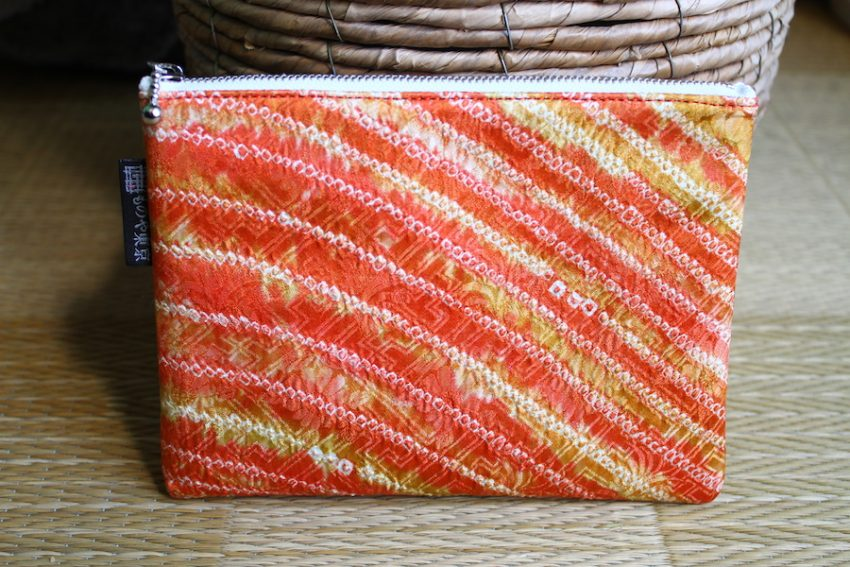 Pochette Fine – Shibori Orange