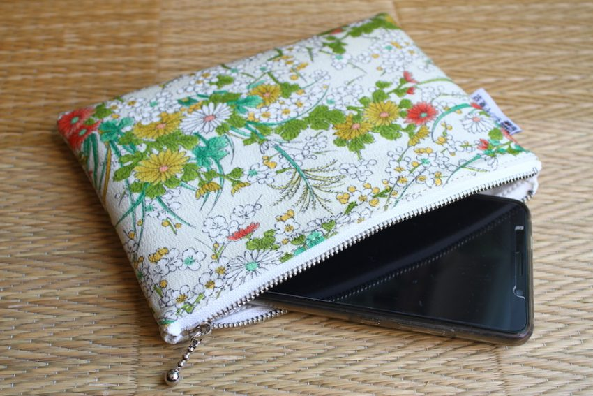 Thin pouch – White Fuyu