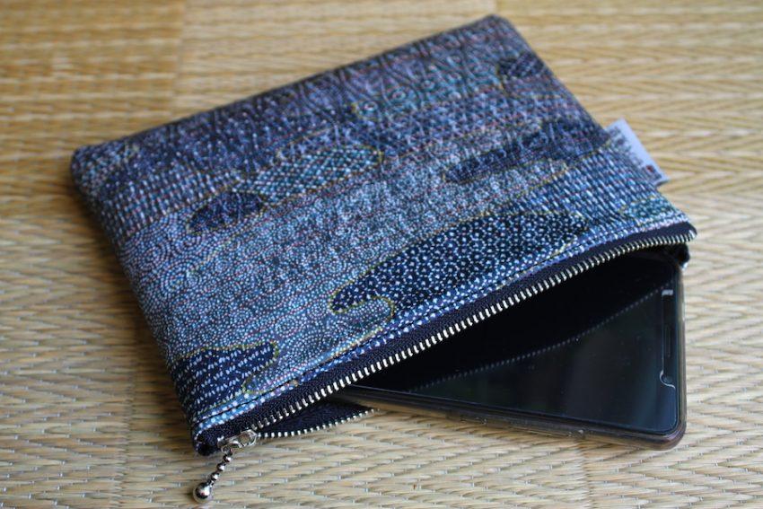 Pochette Fine – Bleu Edo Komon