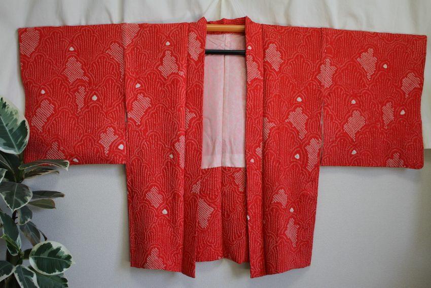 Veste Vintage Haori – Shibori Rose