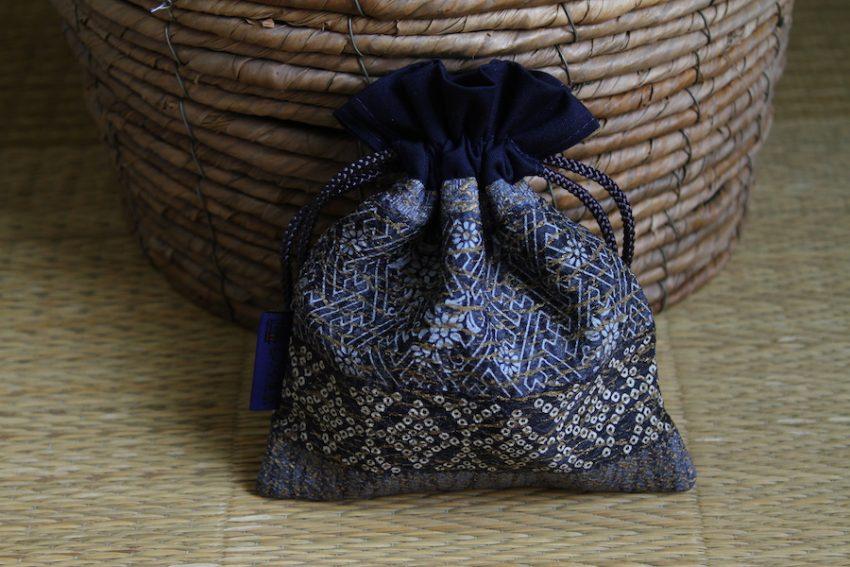 Bourse kinchaku – Bleu étoilé – Niban