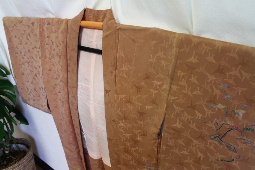 Veste Vintage Haori – Ocre rouge