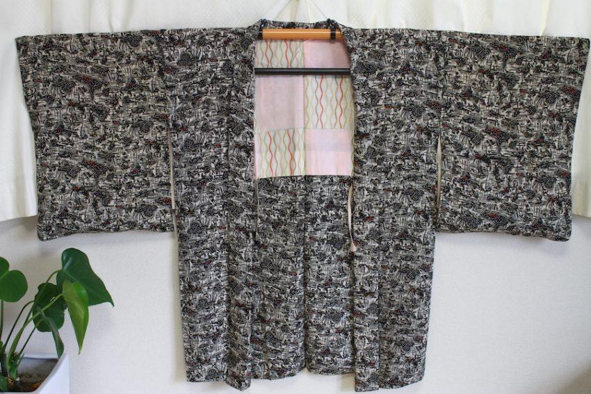 Veste Vintage Haori – Neige en Hiver