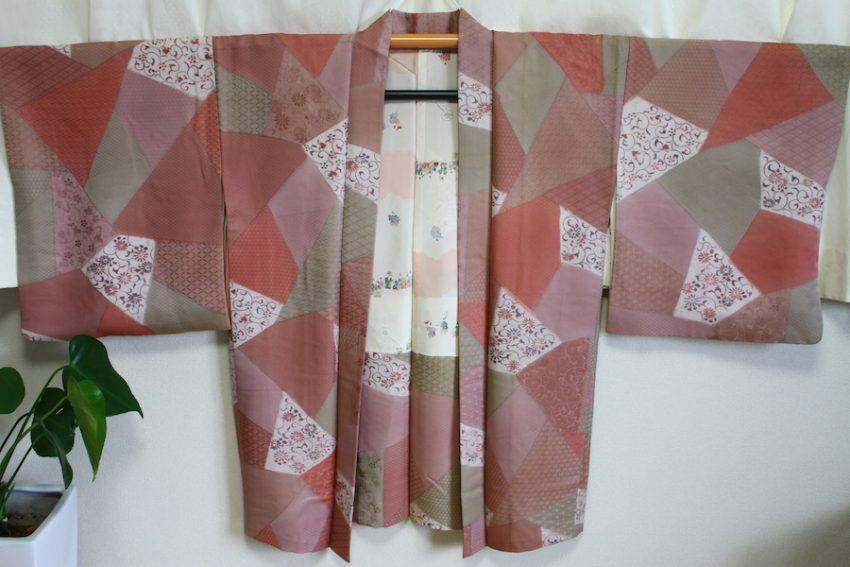 Veste Vintage Haori – Rose style Patchwork