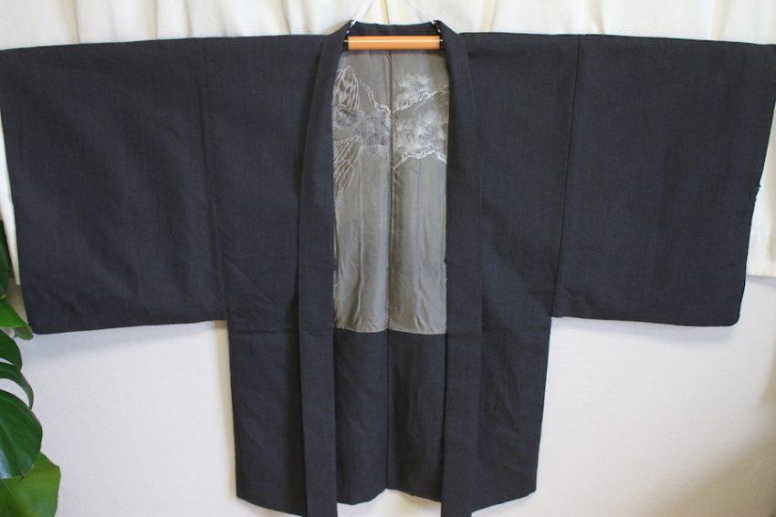 Veste Vintage Homme – Gris Foncé – Mont Fuji & Rapace