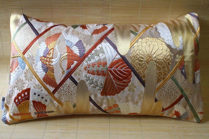 Housse de coussin – Papillons & Grues