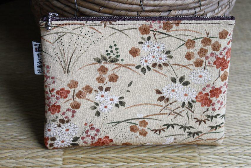 Thin pouch – Pastoral Beige Kimono