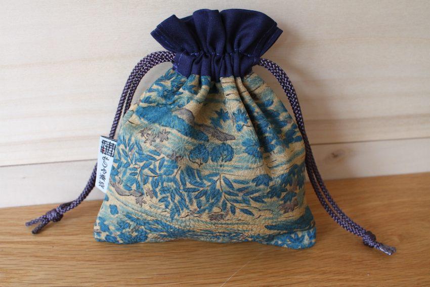 Bourse kinchaku – Kimono Bleu Nature