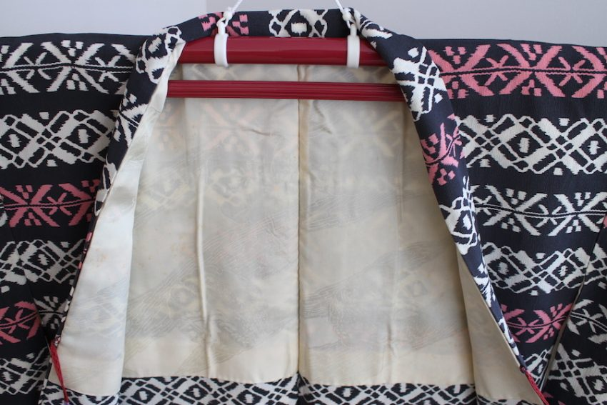Veste Vintage Haori – Géométrique