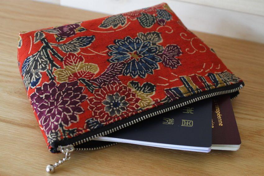 Pochette multi-usage – Kimono Rouge