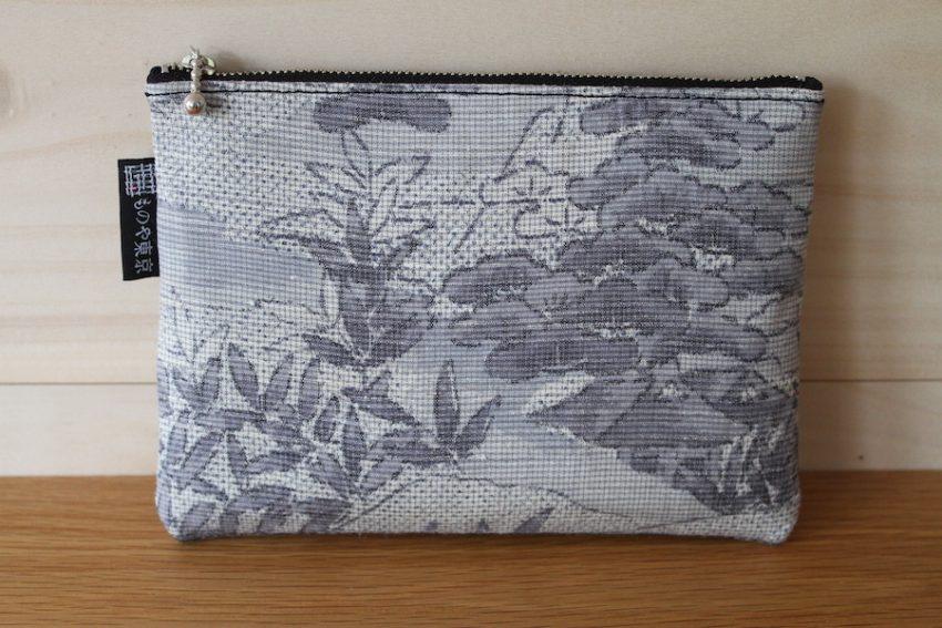 Thin pouch – Grey Kimono