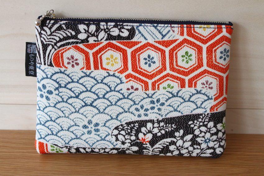 Pochette Fine – Kimono Motifs Japonais