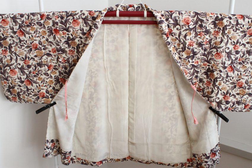 Veste Vintage Haori – Kimono Fleuri