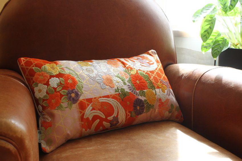 Housse de coussin – Orange Lumineux
